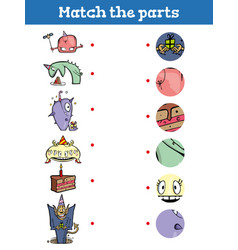 match part educational game for children vector image