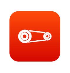 Mechanic belt icon digital red vector