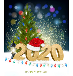 new year and merry christmas holiday background vector image