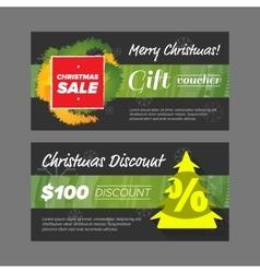New year gift voucher vector