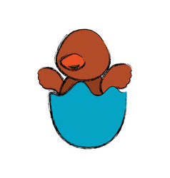 Newborn little duckling cartoon faceless vector