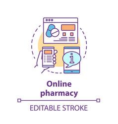 Online pharmacy concept icon virtual pharmacist vector