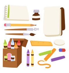 painting art tools palette vector image