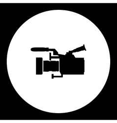 Professional digital camcoder isolated black icon vector