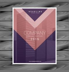 Purple pink arrow style business brochure design vector