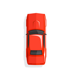 red cartoon muscle car top view vector image