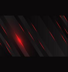 Red light with black metallic slash geometric vector