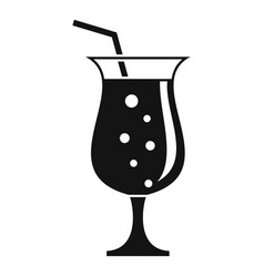 Refreshment cocktail icon simple style vector