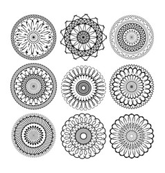 relax mandala set abstract ethnic model mandalas vector image