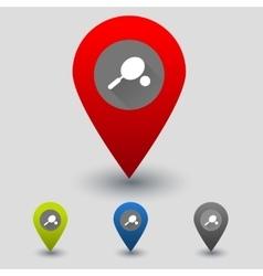 Rrcket and ball colorful navigation signs vector image