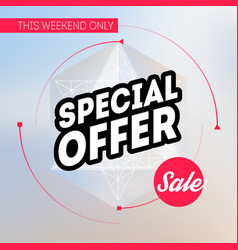 sale banner template special offer this weekend vector image