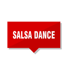 salsa dance red tag vector image