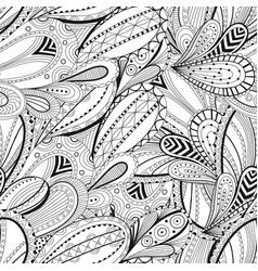 seamless black and white waves pattern wavy vector image