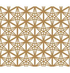 seamless pattern based on japanese ornament kumiko vector image
