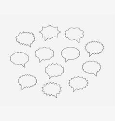 set talk bubbles speech blank empty bubble icon vector image