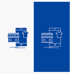 shopping garments buy online shop line and glyph vector image