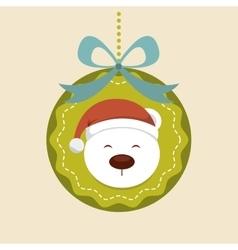 Snow bear icon Merry Christmas design vector