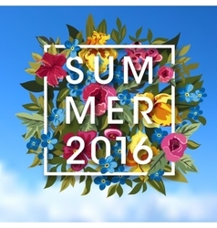 Summer Typographical Background With different vector