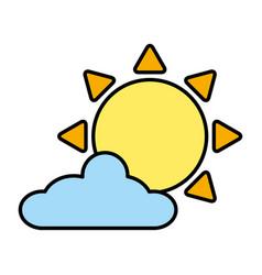 sun cloud sky vector image
