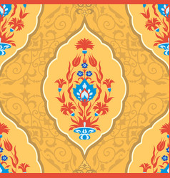 Traditional islamic floral ornament vector