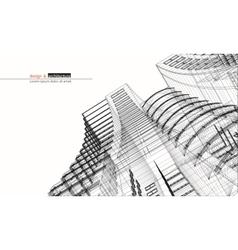 Urbanistic skyscraper abstract 3d render vector