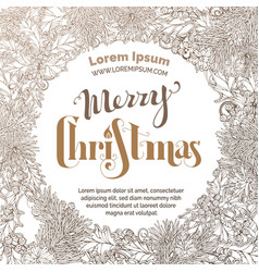 Vintage merry christmas sepia background vector