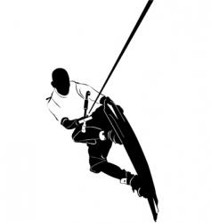 wakeboarding vector image vector image