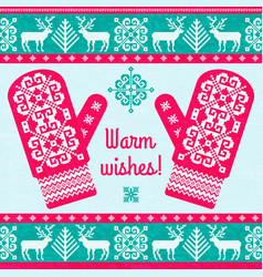 warm whishes christmas card vector image