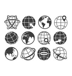 world wide shopping icons vector image