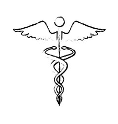Caduceus medical health care symbol vector
