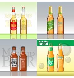 Digital brown beer mockup vector image