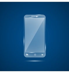 glass mobile phone vector image vector image
