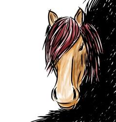 Horse head-shot vector image vector image