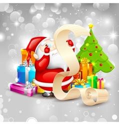 Santa with Christmas Gift vector image vector image