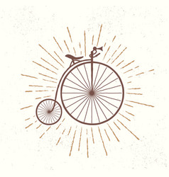 symbol of old vintage bicycle vector image
