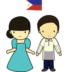 The Philippines traditional costume vector image