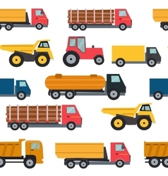 Truck Cars Seamless Pattern Background vector image vector image