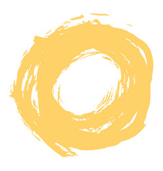 yellow brushstroke circle form vector image