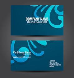 floral design business card vector image