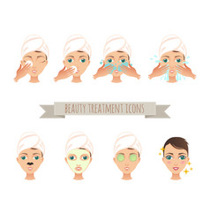 beauty treatment face care mask vector image