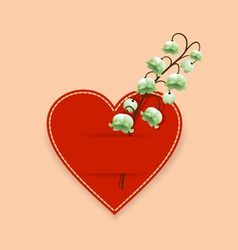 Heart and flower vector image