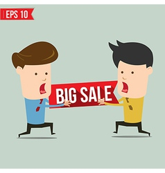 Man snatch bigh sale tag - - EPS10 vector image
