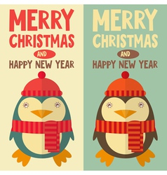 new year penguin vector image vector image