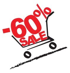 Big sale 60 percentage discount 2 vector