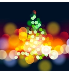 Christmas tree lights background vector image vector image
