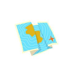 sea map cartoon vector image