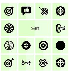 14 dart icons vector