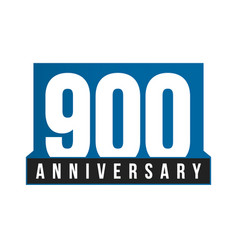 900th anniversary icon birthday logo vector