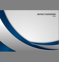 Abstract template blue and gray curve on square vector