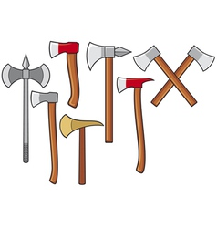 axes collection vector image